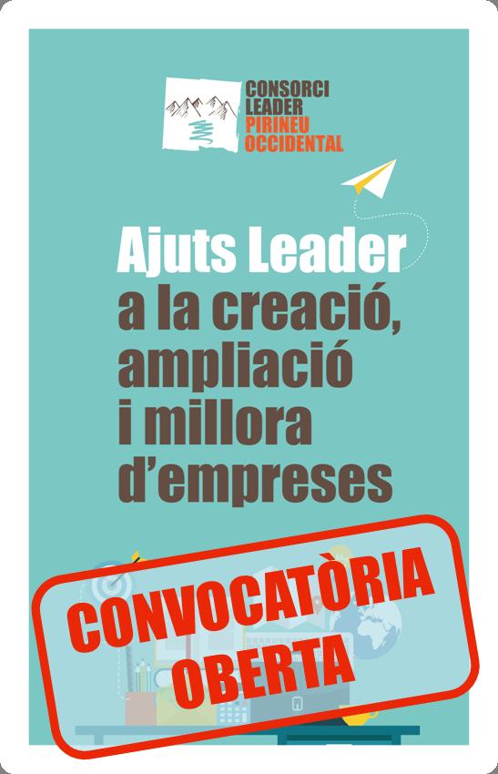 OBERTA LA CONVOCATÒRIA D'AJUTS LEADER, EN EL MARC DEL PROGRAMA DE DESENVOLUPAMENT RURAL DE CATALUNYA 2014-2020